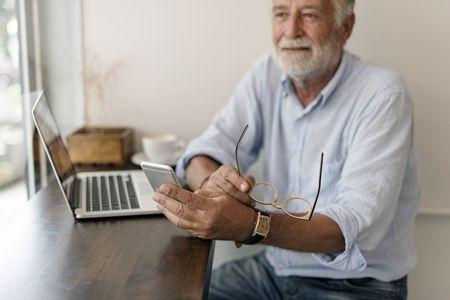 صورة , رجل , كبار السن , الخرف