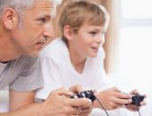 صورة , طفل , أب , الألعاب الإلكترونية