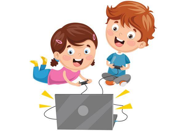 صورة , أطفال , الألعاب الإلكترونية