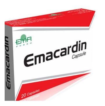 صورة , عبوة , دواء , كبسول , لعلاج قصور عضلة القلب , إيما كاردين , Emacardin