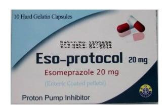 صورة , عبوة كبسولات جيلاتينية صلبة , لعلاج إرتجاع المريء , إيزو بروتكول , Eso-Protocol