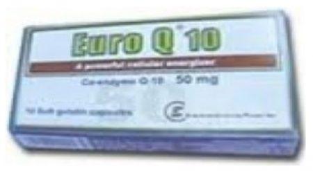 صورة , عبوة , دواء , كبسولات جيلاتينية رخوة , لتحسين وظائف الجهاز الدوري , يوروكيو 10 , Euro Q 10