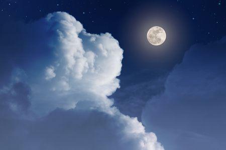 صورة , المساء , قمر , رسائل مسائية