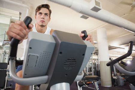 صورة , رجل , جيم , ممارسة الرياضة