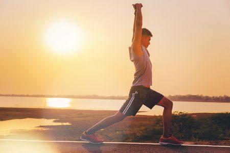 صورة , رجل , ممارسة الرياضة , الجري , شهر رمضان