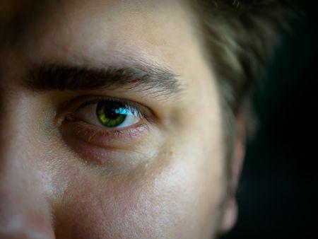 صورة , عين , رجل , الجلوكوما