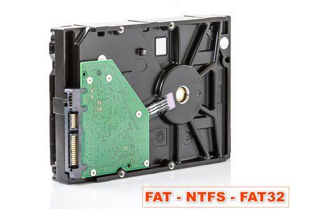 FAT , NTFS , FAT32