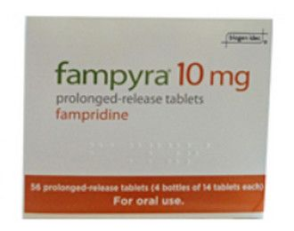 صورة,دواء,علاج, عبوة, فامبيرا , Fampyra