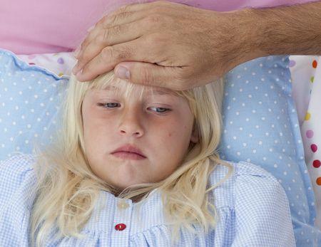صورة , ارتفاع درجة الحرارة عند الأطفال , الحمى , الأطفال