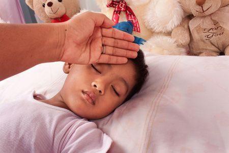 صورة , طفل , مريض , الحمى , حمى البحر الأبيض