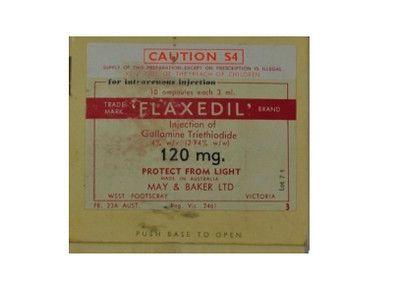 صورة , عبوة , دواء , لحالات التخدير , فلاكسيديل , Flaxedil