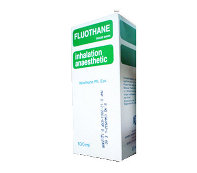 صورة , عبوة , دواء , للتخدير , فلوثان , Fluothane