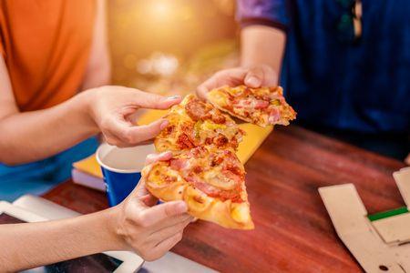 صورة , بيتزا , الأكل الليلي