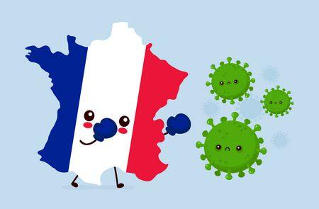 صراع فرنسا والكورونا بين الفرنسيون والوباء