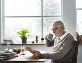 صورة , رجل , القراءة , أوقات الفراغ , القهوة