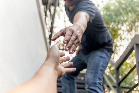 صورة , رجل , يد , الصداقة , صديق