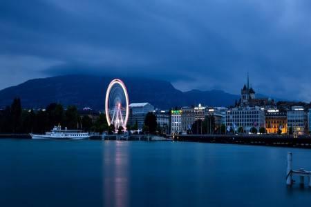 جنيف ، سويسرا ، قمة الساليف ، المطاعم ، الحي الإيطالي ، جيت دياو ، متحف باتيك فيليب