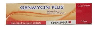 صورة , عبوة , دواء , كريم موضعي , لعلاج الأمراض الجلدية , جنمايسين بلس , Genmycin Plus
