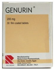 صورة,دواء, عبوة, جينورين, Genurin
