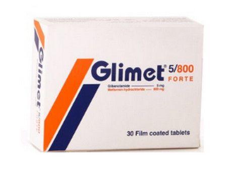 صورة , عبوة , دواء , أقراص , جليمت فورت , Glimet Forte