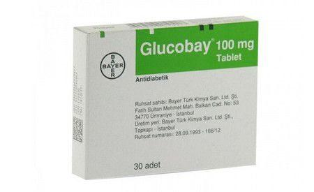 دواء جلوكوباي ، صورة Glucobay