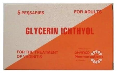 صورة , عبوة , تلابيس مهبلية , دواء , جلسرين اكتيول , Glycerin Ichthyol