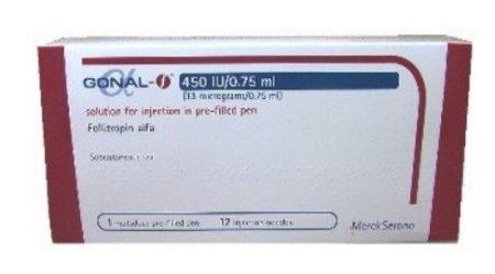 صورة , عبوة , دواء , لحالات نقص الخصوبة , جونال إف , Gonal-F