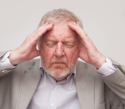 إصابات، الرأس، رجل،صورة