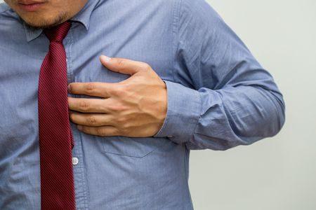 الألم الصدري , النوبة القلبية