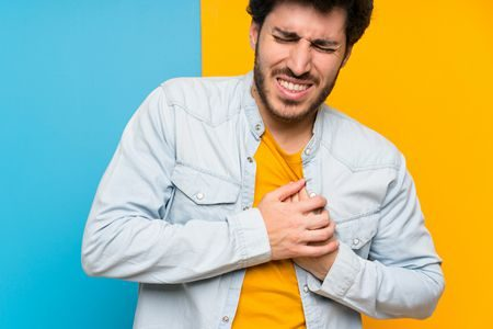 صورة , رجل , مريض , أمراض القلب , ضعف عضلة القلب