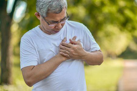 صورة , رجل مريض , أمراض القلب , مرضى القلب