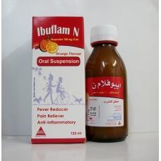 صورة, دواء, علاج, عبوة, إبيوفلام ن , شراب , Ibuflam N