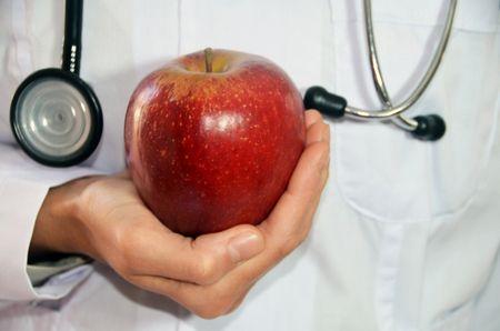 توهم المرض , صورة , تفاحة , طبيب