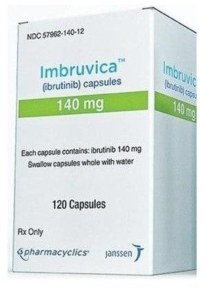 صورة , عبوة , دواء , أقراص , لعلاج سرطان الدم المزمن , إيمبروفيكا , Imbruvica