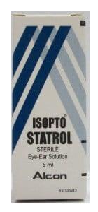 صورة , عبوة , دواء , قطرة للعين والأذن , إيزوبتو ستاترول , Isopto Statrol