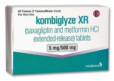 صورة , عبوة , دواء , أقراص , لموازنة نسب السكر في الدم , كومبيجلايز , Kombiglyze XR