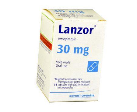 صرة , عبوة , دواء , لعلاج اضطرابات المعدة , لانزور , Lanzor