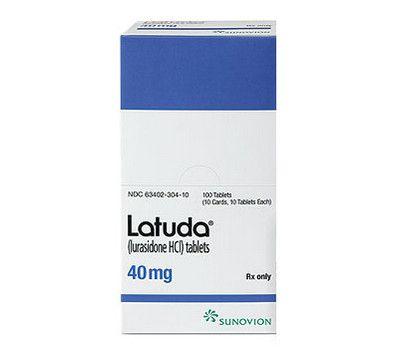 صورة , عبوة , دواء , لعلاج نوبات الإكتئاب , لاتودا , Latuda
