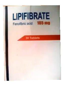 صورة , عبوة , دواء , أقراص , لعلاج إرتفاع الكوليسترول في الدم , ليبيفيبرات , Lipifibrate
