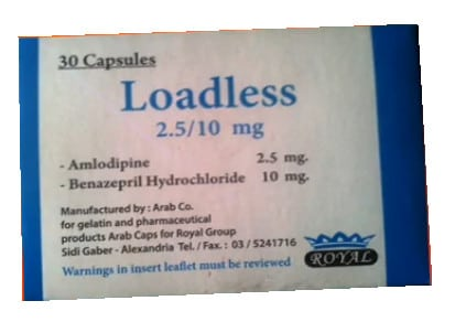 صورة , عبوة , دواء , كبسولات , لعلاج إرتفاع ضغط الدم , لودلس , Loadless