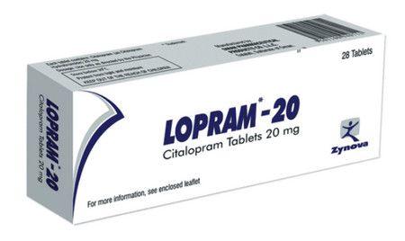صورة , عبوة , دواء , لعلاج الإكتئاب , لوبرام , Lopram