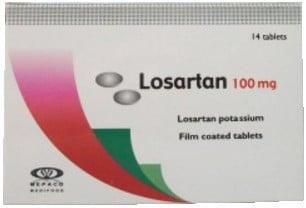 صورة, عبوة, لوسارتان, Losartan