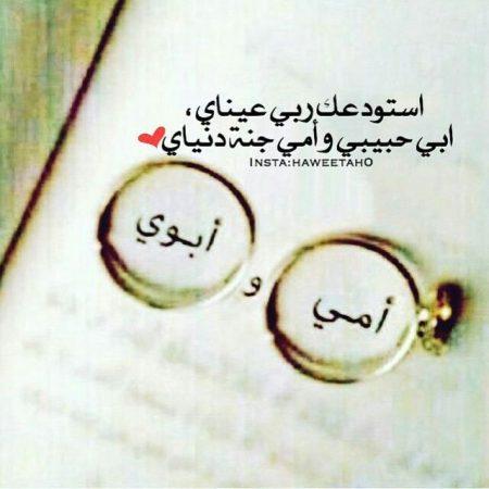 استودعتك ربي عيناي، أبي حبيبي وأمي جنة دنياي.