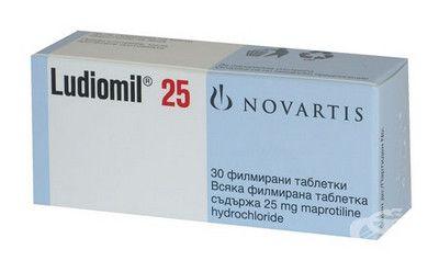 صورة , عبوة , دواء , لعلاج التوتر والقلق , لوديوميل , Ludiomil