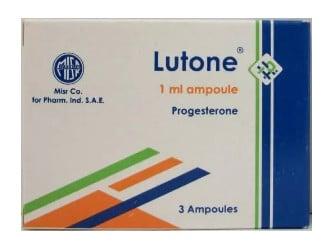 صورة , عبوة , دواء , أمبولات , لعلاج إنقطاع الطمث , لوتون , Lutone