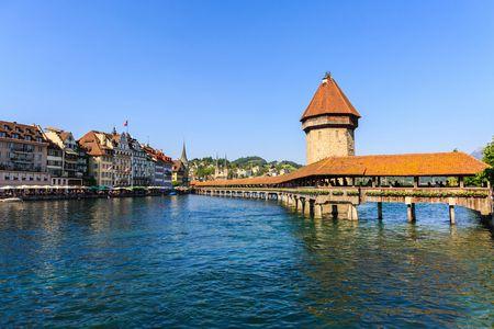 صورة , مدينة لوزيرن , سويسرا , جسر لوزيرن