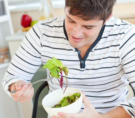 صورة , رجل , التغذية السليمة
