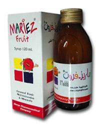 صورة , عبوة , دواء , شراب , ماريز فروت , Mariez-Fruit