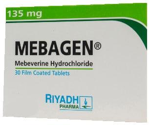 صورة, عبوة, ميباجن , أقراص, Mebagen