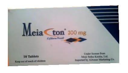 صورة , عبوة , دواء , أقراص مغلفة , مضاد حيوي , مياكتون , Meiacton